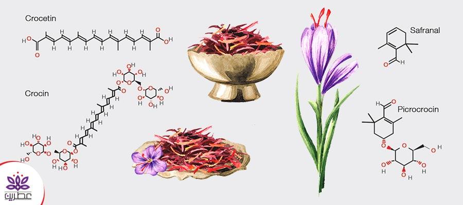 ترکیبات شیمیایی زعفران
