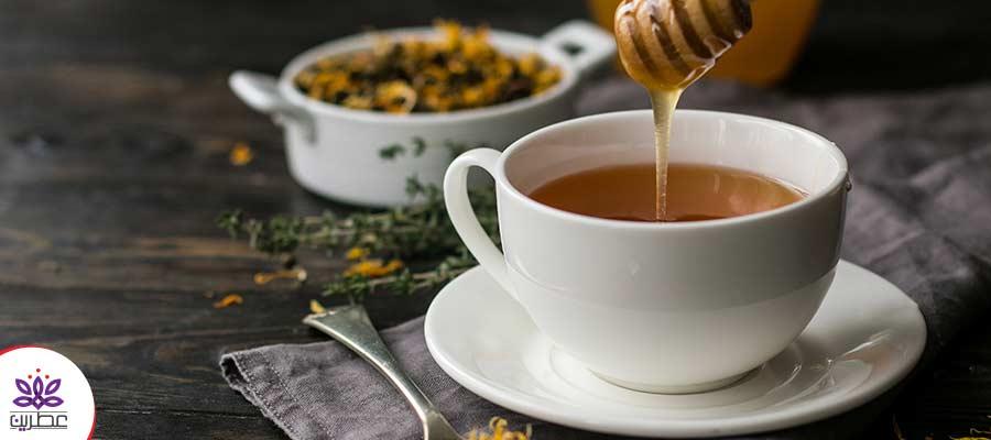 عسل افزودنی طبیعی چای