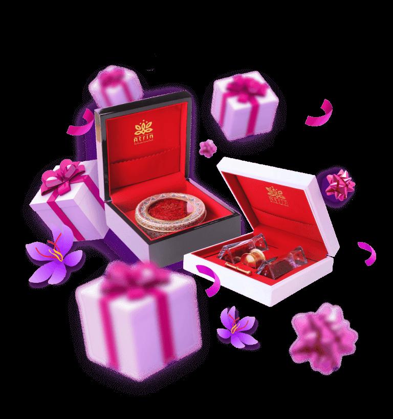 هدایای زعفران عطرین
